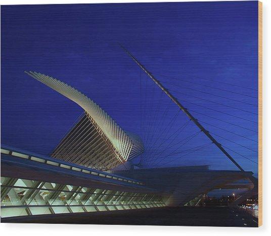 Dusk At The Calatrava Wood Print by Chuck De La Rosa