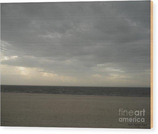 Dusk Beach Walk  Wood Print