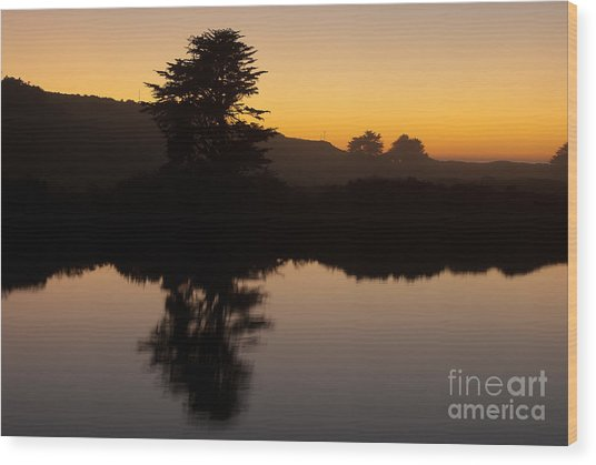 Dusk On Russian River - 7059 Wood Print by Stephen Parker