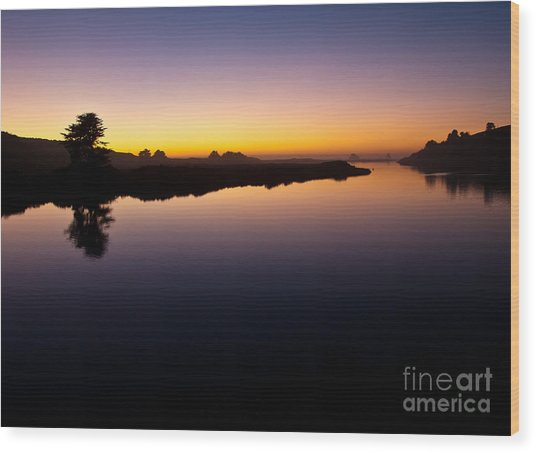 Dusk On Russian River 2.2751 Wood Print by Stephen Parker