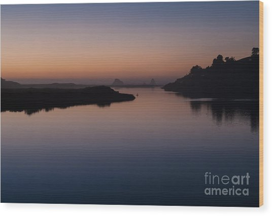 Dusk On Russian River  2.2753 Wood Print by Stephen Parker