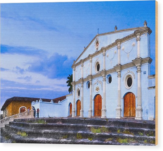 Dusk On The Convento De San Francisco - Granada Wood Print by Mark Tisdale