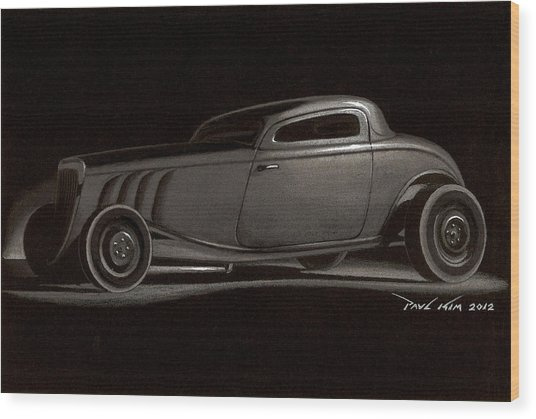 Dusty Ford Coupe Wood Print by Paul Kim