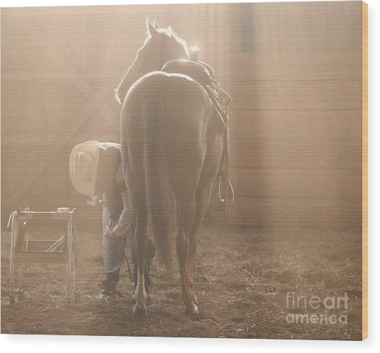 Dusty Morning Pedicure Wood Print