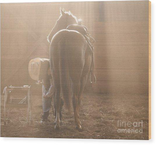 Dusty Morning Pedicure Wood Print