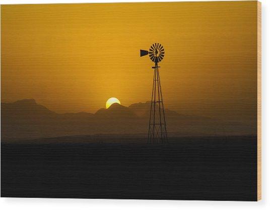 Dusty Sunset Wood Print