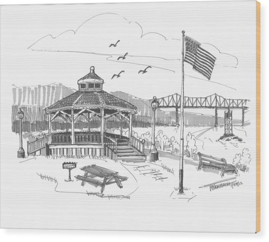 Dutchmen's Landing Catskill Wood Print