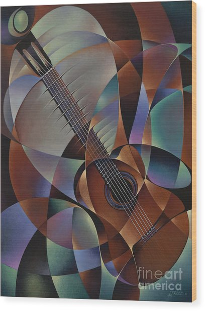 Dynamic Guitar Wood Print
