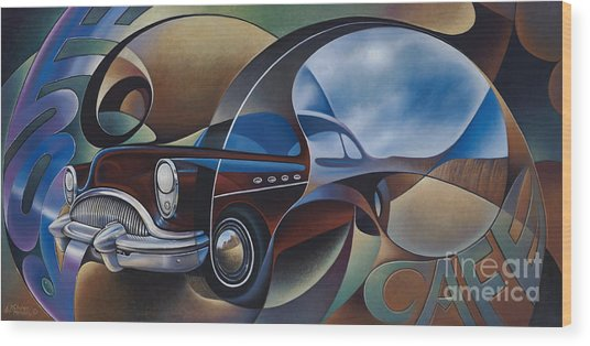 Dynamic Route 66 Wood Print