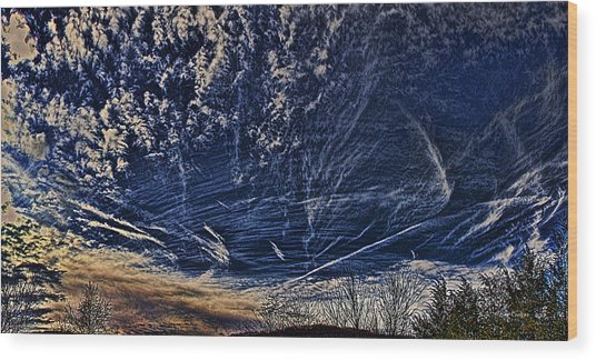 Dynamic Skyscape Wood Print
