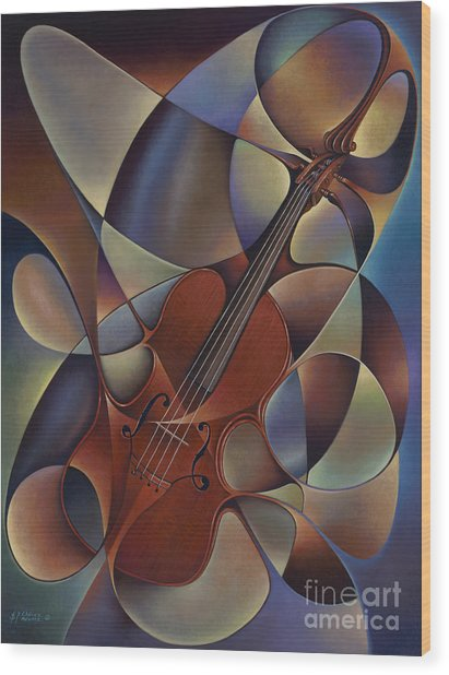 Dynamic Violin Wood Print
