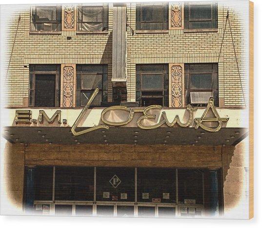 E M Loews Theater Wood Print by Mike McCool