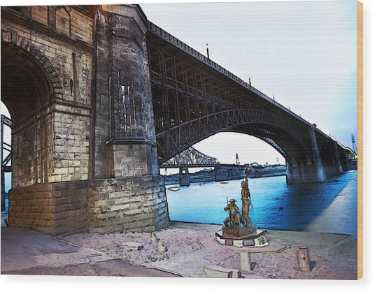 Eads Bridge 2 Wood Print