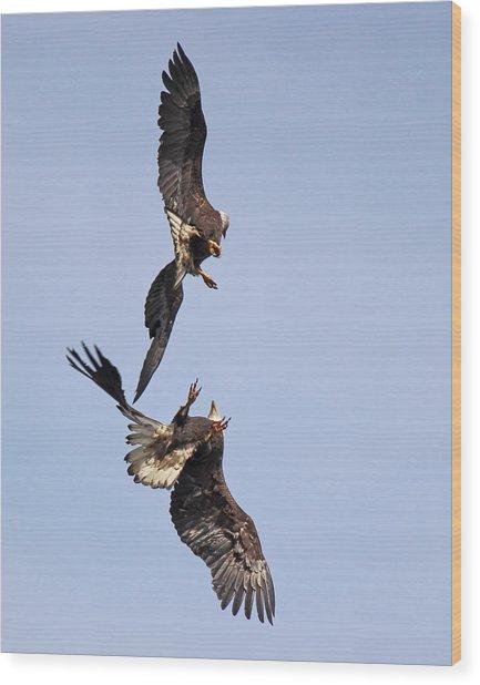Eagle Ballet Wood Print
