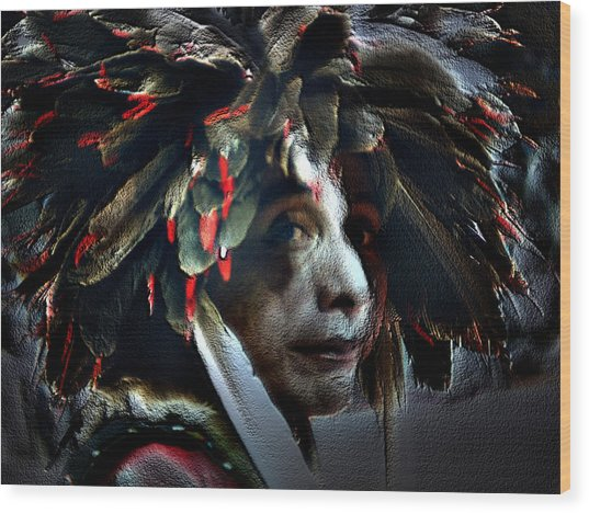Eagle Feather Wood Print