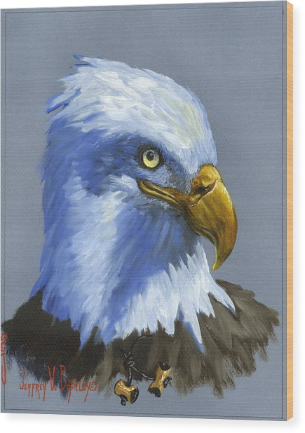 Eagle Patrol Wood Print
