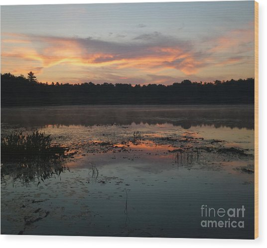 Eagle River Sunrise No.5 Wood Print