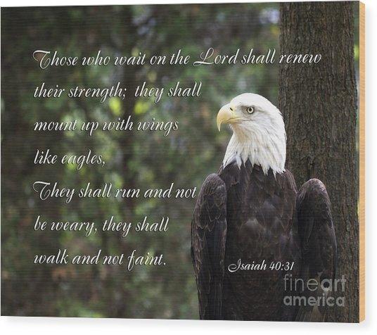 Eagle Scripture Isaiah Wood Print