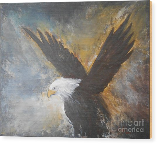 Eagle Spirit 2 Wood Print