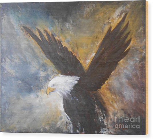 Eagle Spirit Wood Print