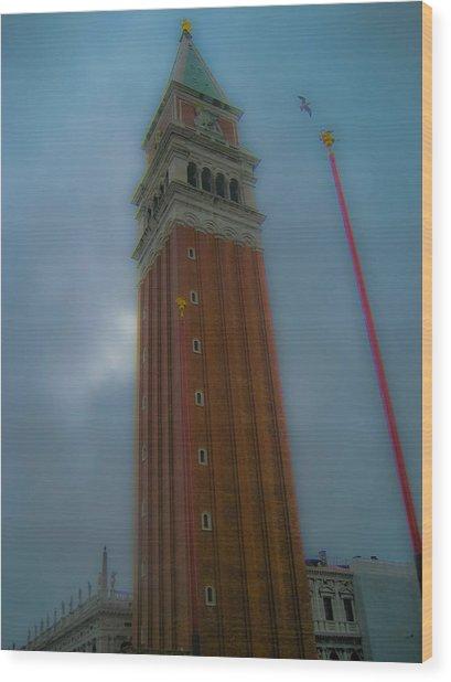 Eagle Tower Wood Print