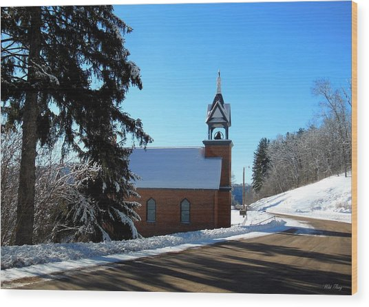 Eagle Valley Church Wood Print