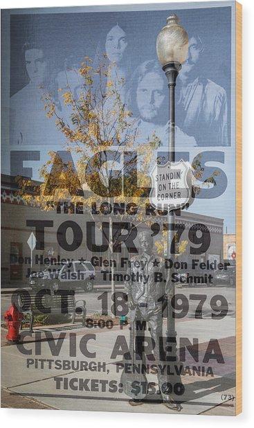 Eagles The Long Run Tour Wood Print