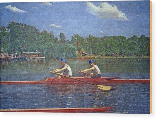Eakins' The Biglin Brothers Racing Wood Print
