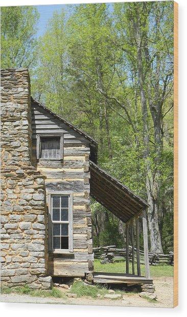 Early Appalachian Home Wood Print