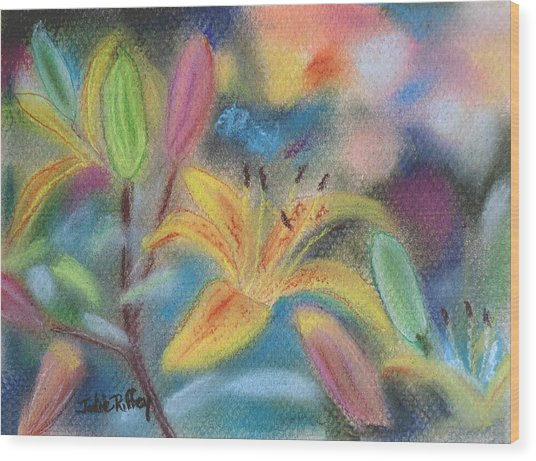 Early Arrival Lily Wood Print