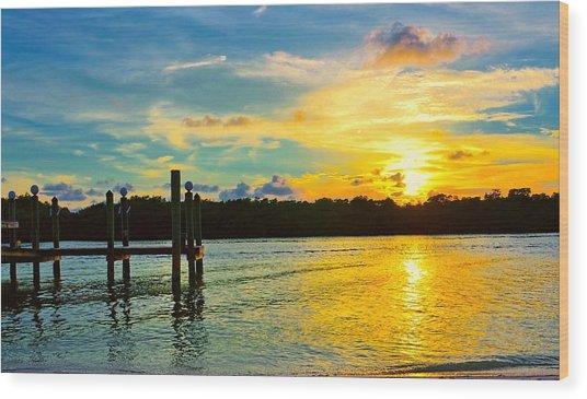 Early Evening On Sombrero Beach Wood Print