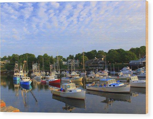 Early Morning At Perkins Cove Wood Print