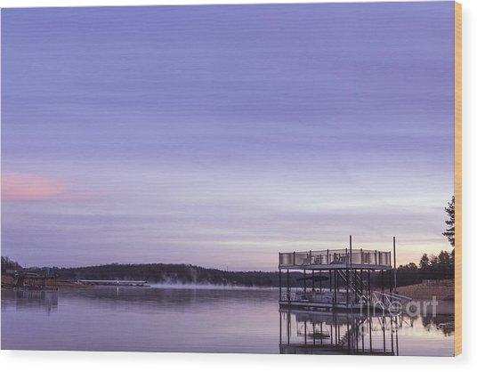Early Morning At The Lake Wood Print