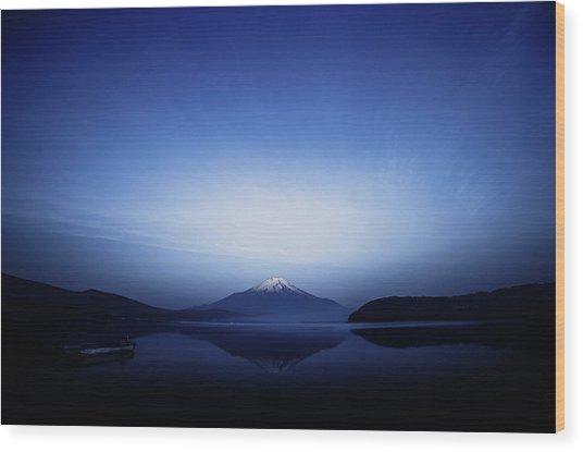 Early Morning Blue Symbol Wood Print by Takashi Suzuki