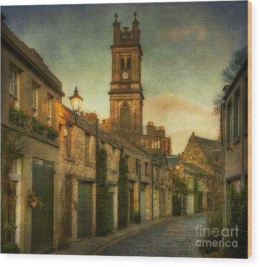Early Morning Edinburgh Wood Print