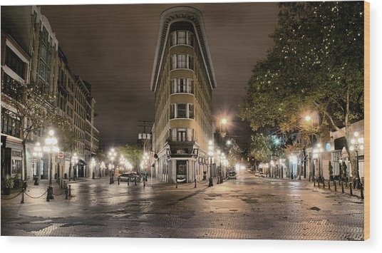 Early Morning Gastown Wood Print by David Brown