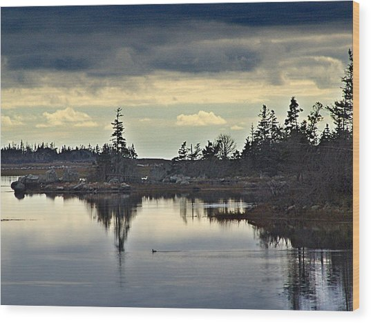 Early Morning In The Salt Marsh Wood Print by George Cousins