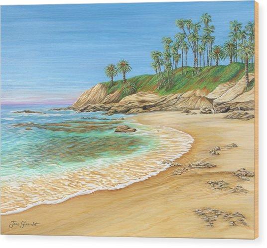 Early Morning Laguna Wood Print