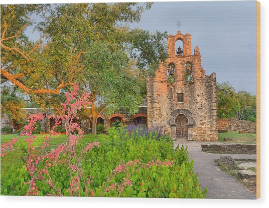 Early Morning Sun Caressing Mission Espada Wood Print