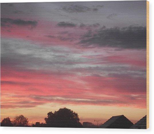 Early Morning Sunrise 1 Wood Print