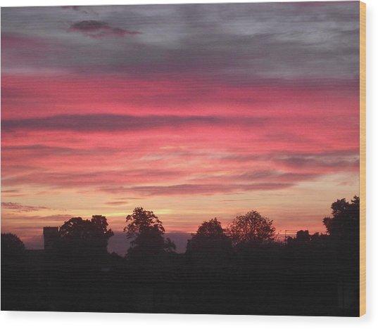 Early Morning Sunrise 2 Wood Print