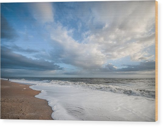 Early Morning Vilano Beach Wood Print
