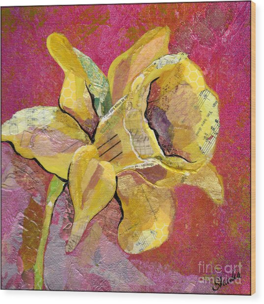 Early Spring I Daffodil Series Wood Print