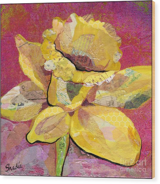 Early Spring IIi  Daffodil Series Wood Print