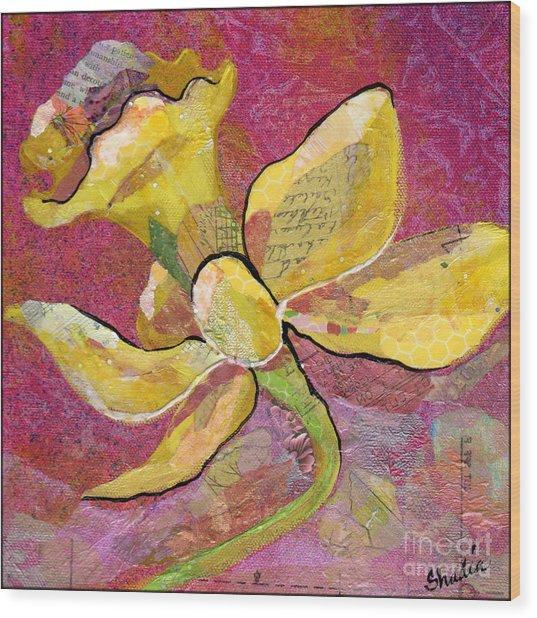 Early Spring Iv Daffodil Series Wood Print