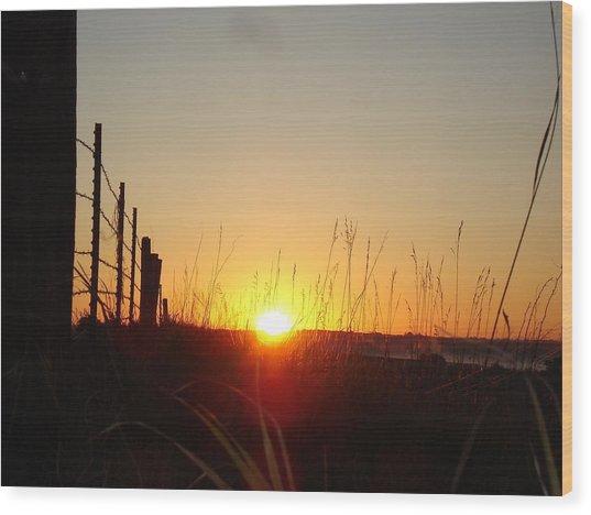 Early Sunrise In September Wood Print
