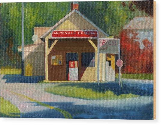 Earlysville Virginia Old Service Station Nostalgia Wood Print