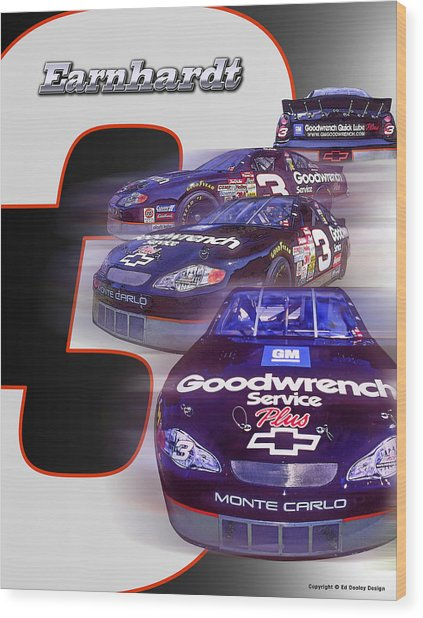 Earnhardt No. 3 Wood Print