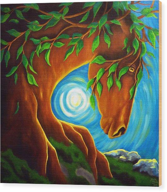 Earth Elder Wood Print