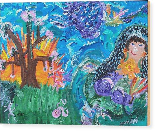 Earth Goddess Wood Print